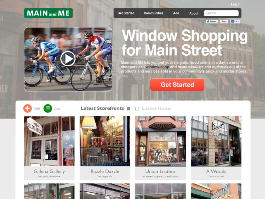 Where National Mainstreet.Orgs Go To Offer Online Windowshopping And Wish-listing Of Their Downtown Historic Shopping Districts